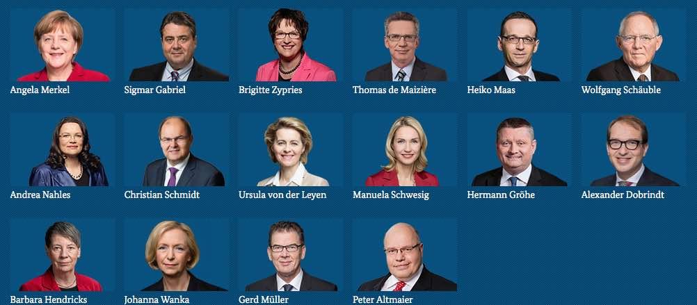 Bundeskabinett 2017