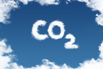 Schrift am Himmel – CO2